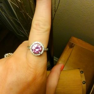 *NEW* .925 pink cz ring